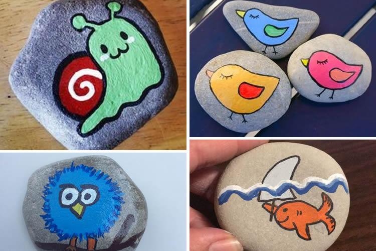 animals pintats en una pedra