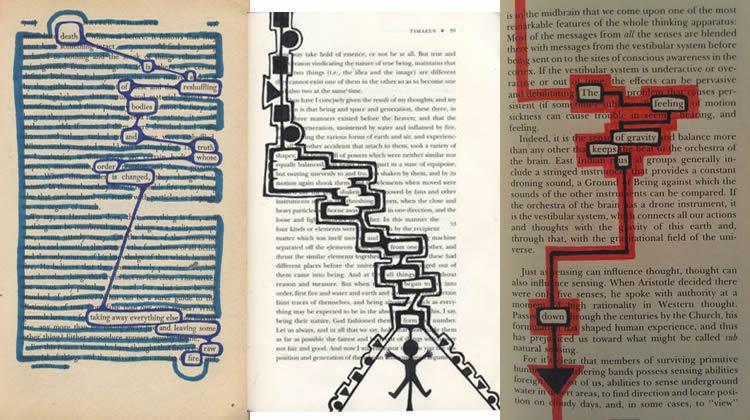 creativitat ratllant paper de diari ratllant
