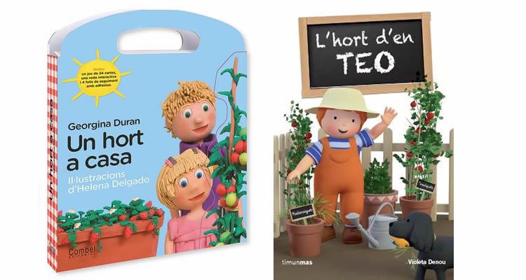 llibres per descobrir i treballar l'hort per als més petits