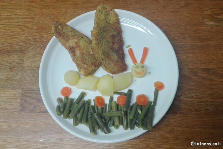 plats de verdures per a nens papallona