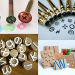 segells d'estampació amb diferents materials