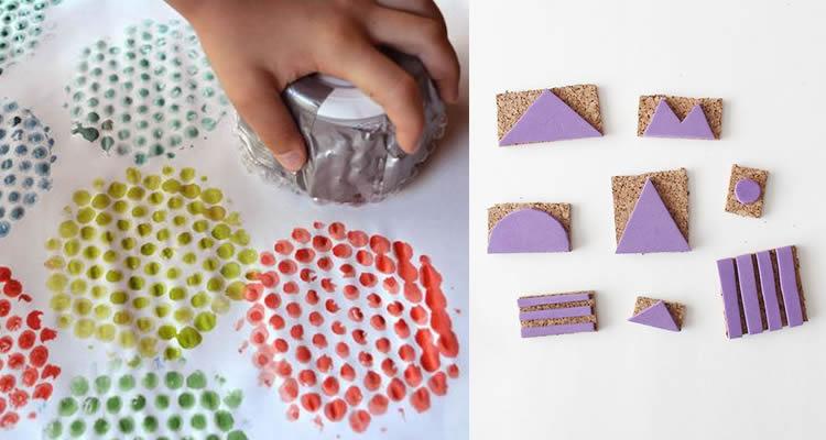 segells d'estampació amb diferents materials bosses