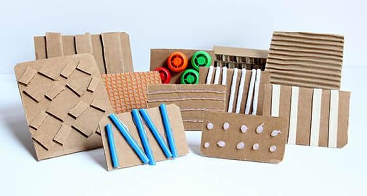 segells d'estampació amb diferents materials cartro