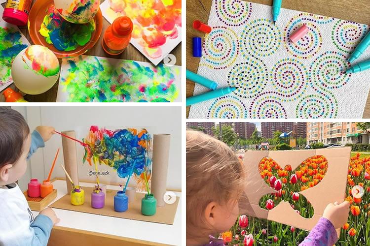 14 tècniques Montessori per pintar