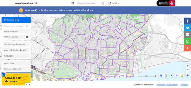 barcelona amb nens mapa