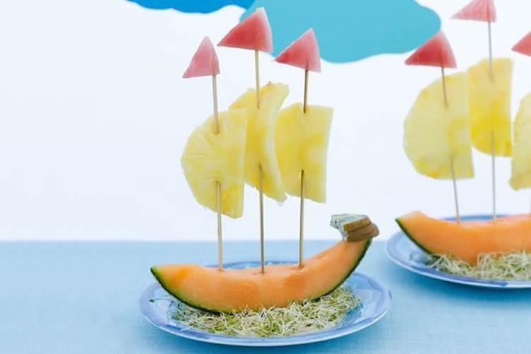 vaixells per al sopar d'estiu meló