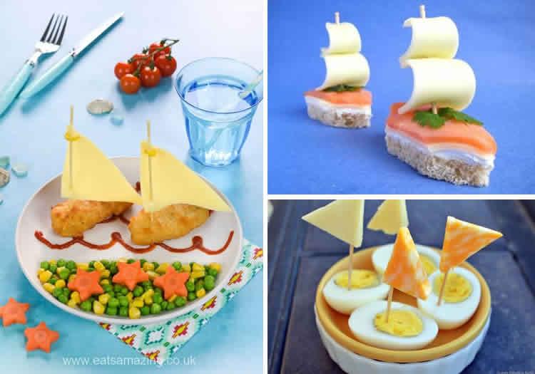 vaixells per al sopar d'estiu ou i peix