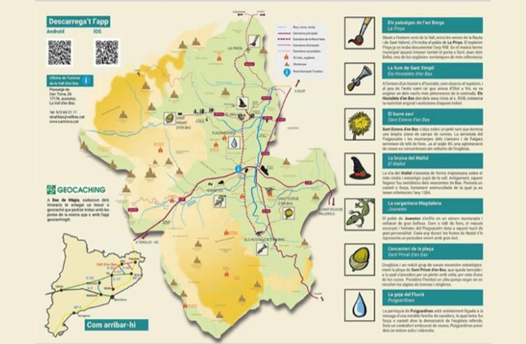 Bas de Màgia a la Vall d'En Bas mapa