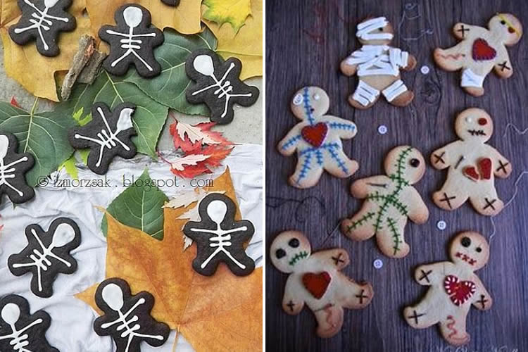 Galetes de gingebre de Halloween esquelets