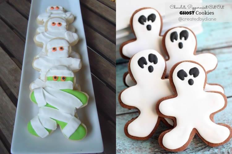 Galetes de gingebre de Halloween fantasmes