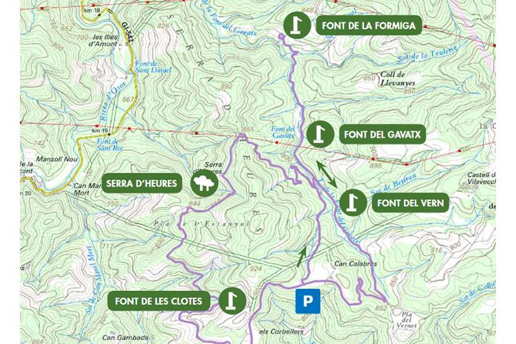 Ruta Font de la Formiga mapa