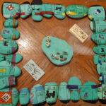 monopoli amb pedres pintades