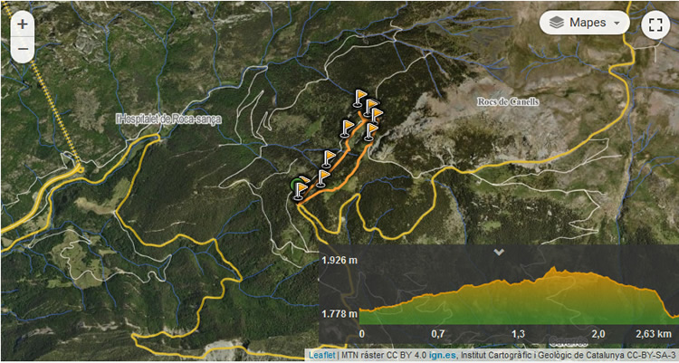 ruta del trencapinyes mapa