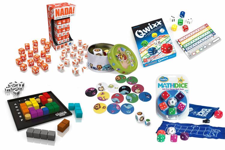 5 jocs de taula amb daus