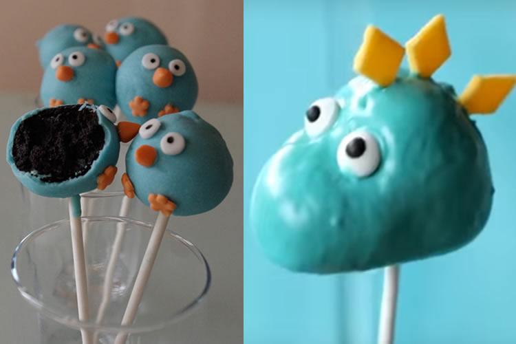 cake pops dinosaure