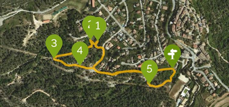 itinerari sensorial de talamanca mapa