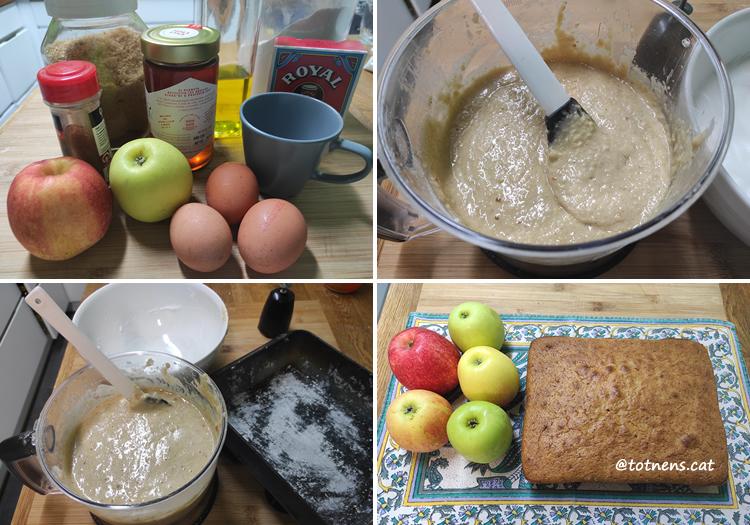 recepta pastís de poma sense lactosa pas a pas