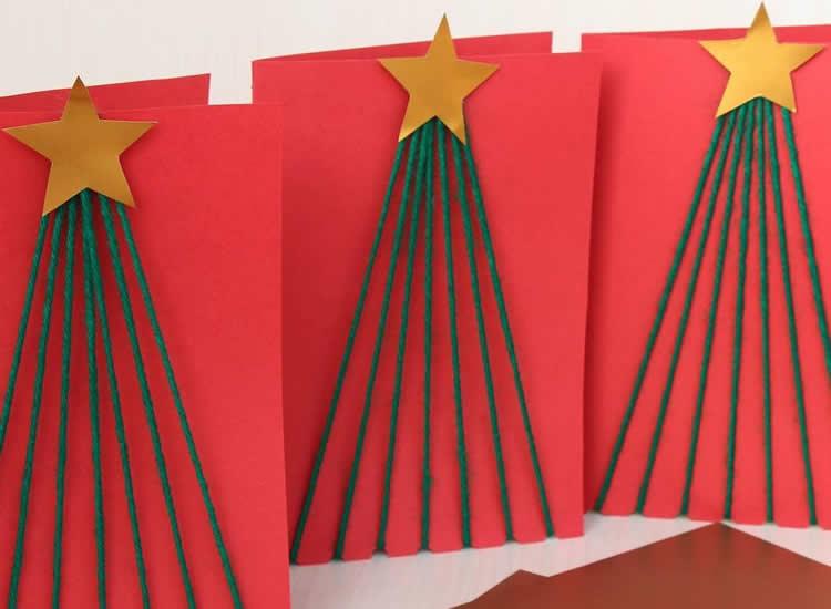 7 Postals d'arbres de Nadal llana
