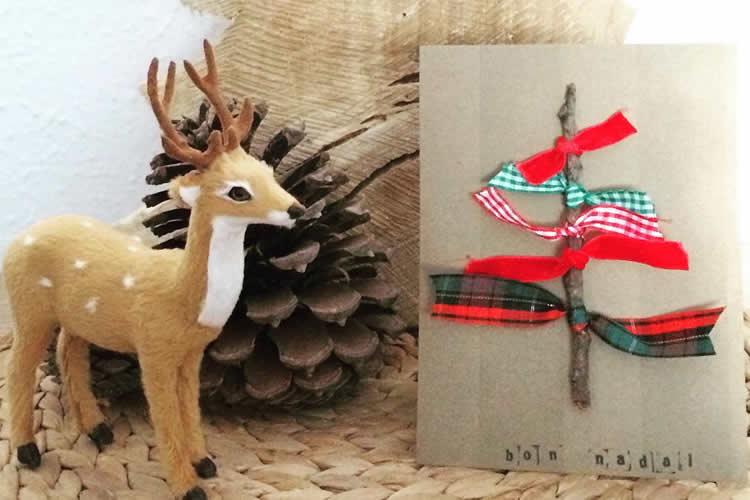 7 Postals d'arbres de Nadal  tronc