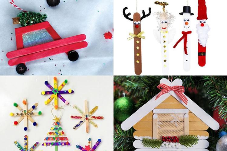 Decoració nadalenca amb pals de gelat