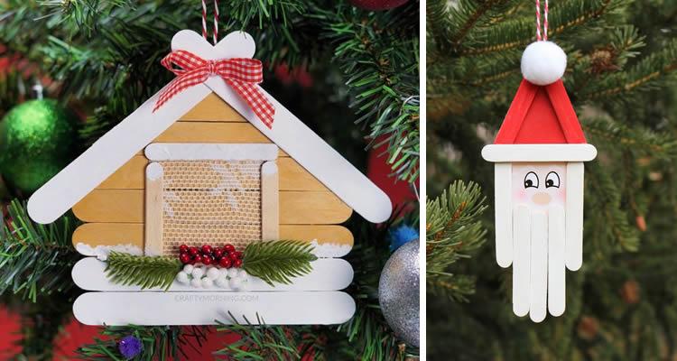Decoració nadalenca amb pals de gelat caseta gingebre