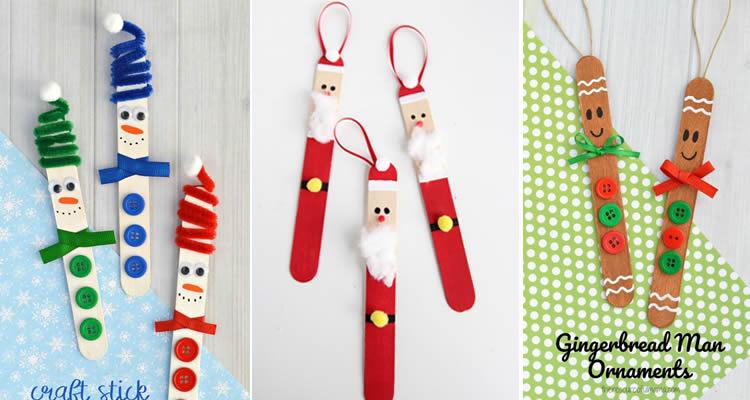 Decoració nadalenca amb pals de gelat pare noel