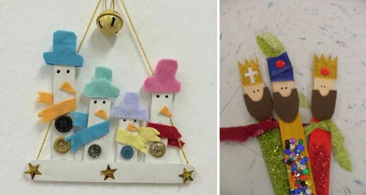 Decoració nadalenca amb pals de gelat reis orient