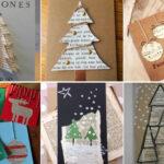 Felicitacions de Nadal amb paper de diari