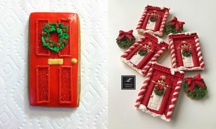 Galetes de portes de gingebre per al Pare Noel amb corona