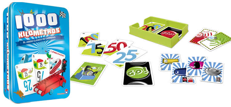 Joc de cartes 1000 Kilómetros - Asmodée