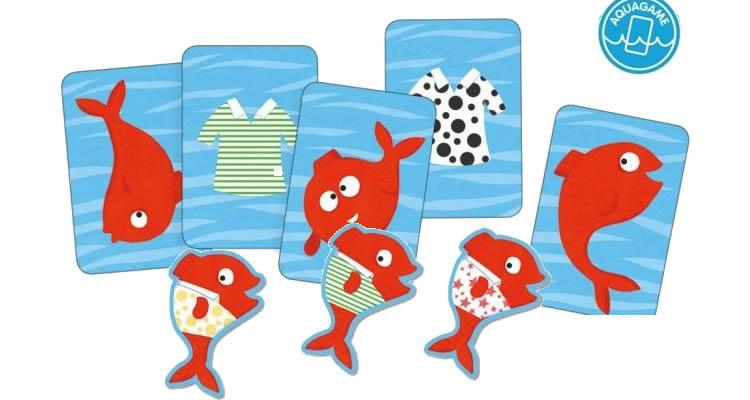 Joc de cartes per la banyera Spidifish - Djeco