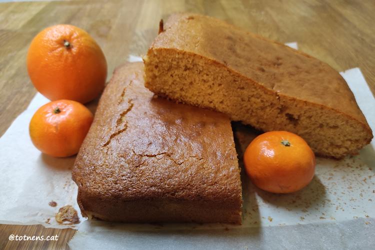 Pastís de mandarina i taronja