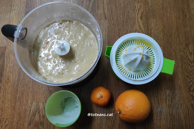 Pastís de mandarina i taronja pis-plas