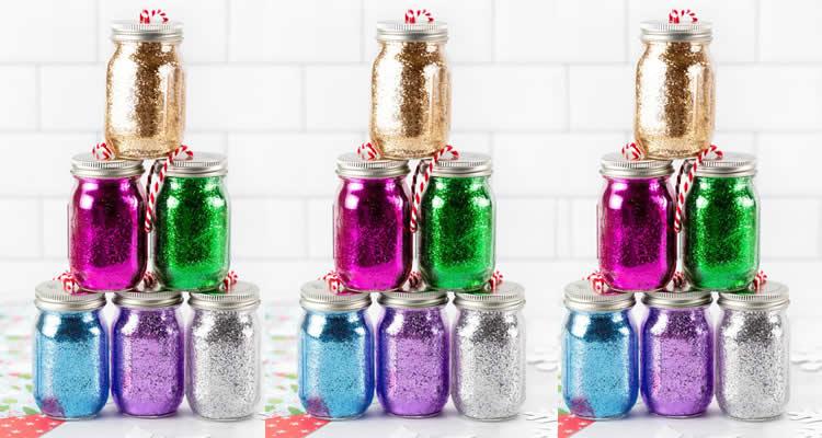 Pots de purpurina de Nadal boles de colors