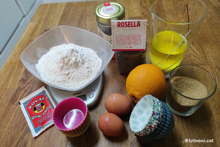 magdalenes de taronja ingredients