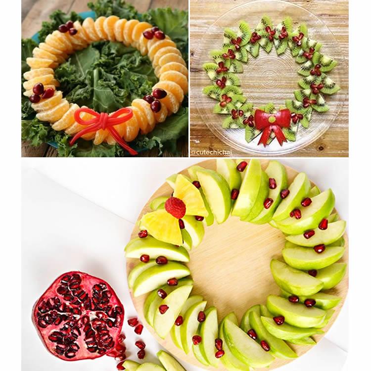 receptes de fruita per Nadal corones de fruita