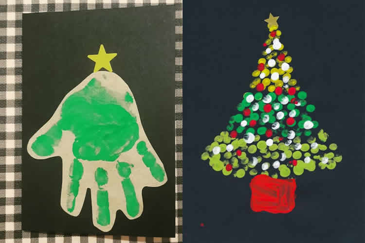12 postals de Nadal d'avets amb dits i m+a