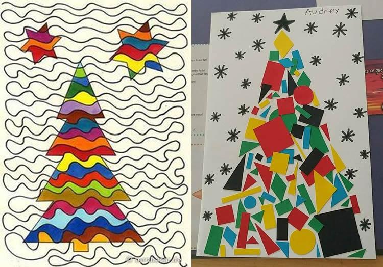 postals de Nadal d'avets a tot color
