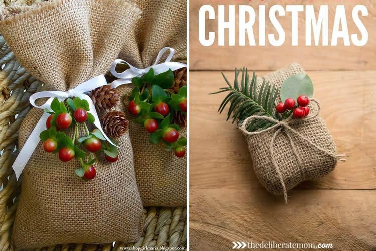 Embolicar regals de manera sostenible sacs