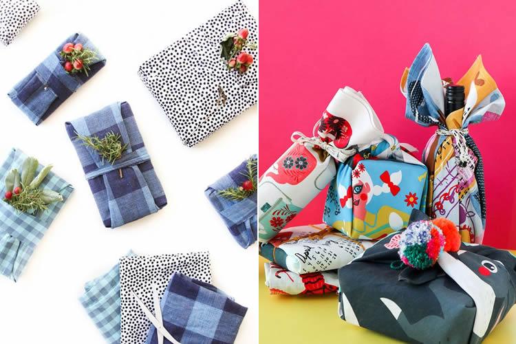 Embolicar regals de manera sostenible retalls i draps