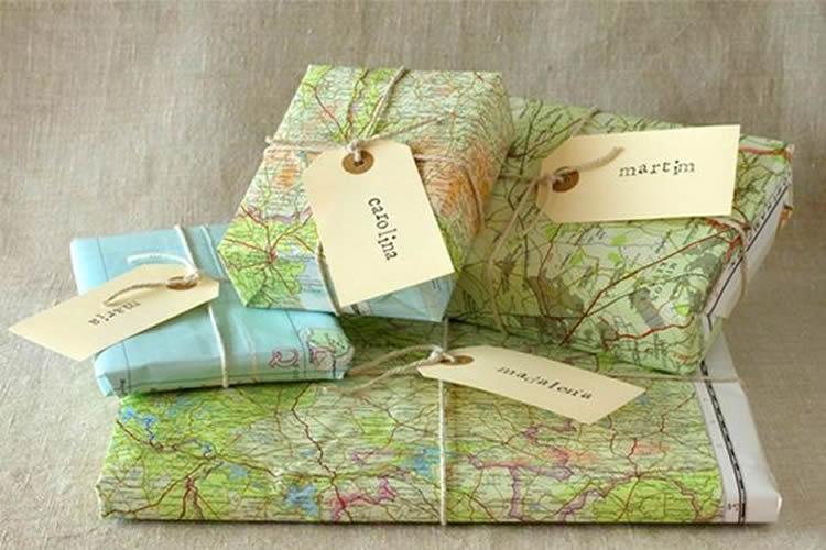 Embolicar regals de manera sostenible mapes