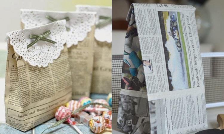 Embolicar regals de manera sostenible bosses paper de diari