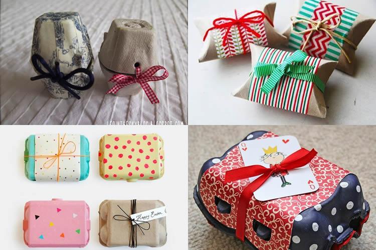 Reutilitzar oueres i caixes per embolicar regals
