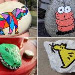 12 animals pintats en una pedra