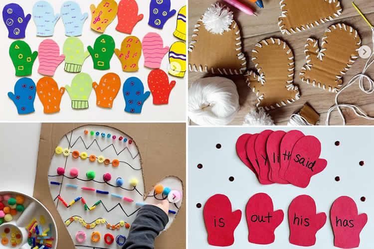 Activitats Montessori amb manyoples de cartró