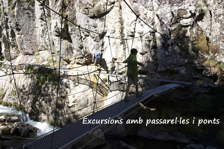 excursions amb passarelles i ponts