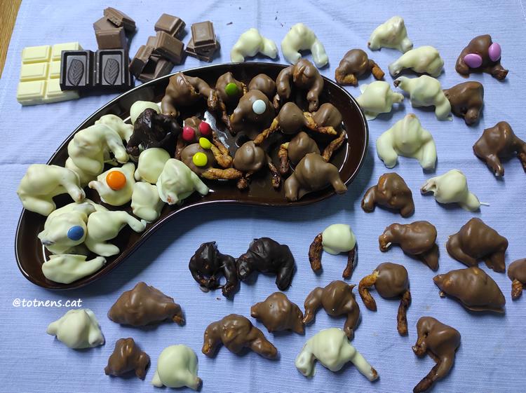 mini croissants de xocolata