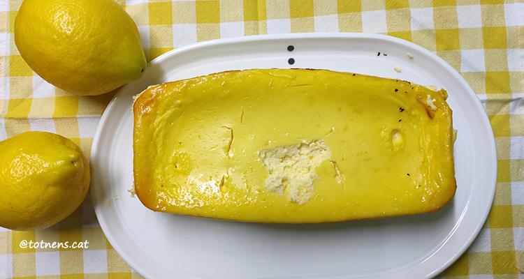 pastis de formatge i llimona