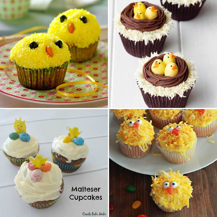 cupcakes pollets de Pasqua