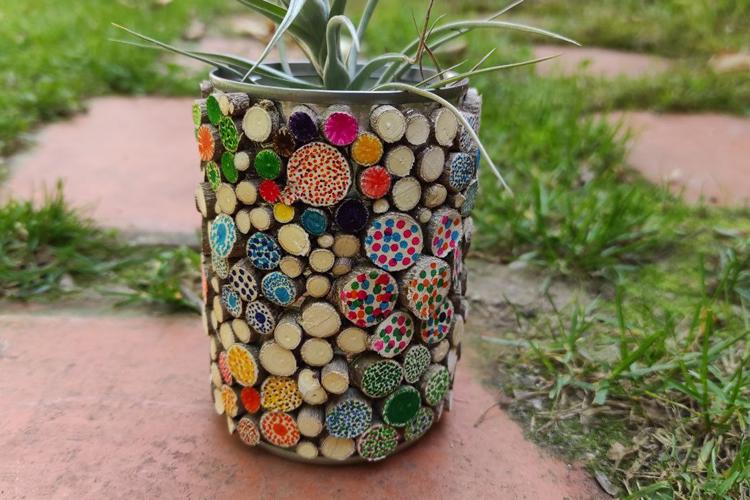 reutilitzem un pot de llauna